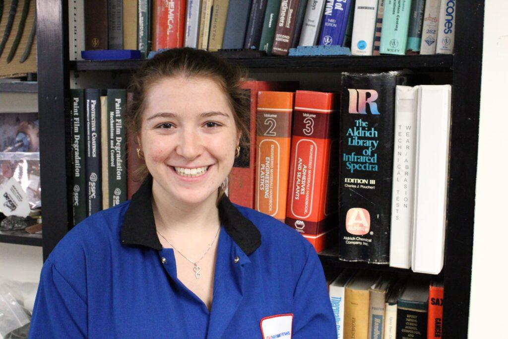 Paige Newell Library Lab Coat Headshot