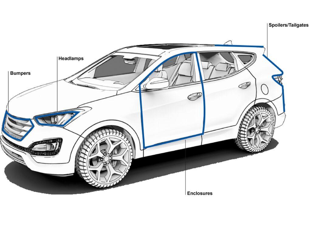 vehicle manufacturing plexus adhesive bond lines