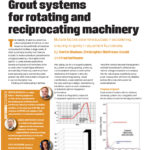 Grout systems for rotating and reciprocating machinery